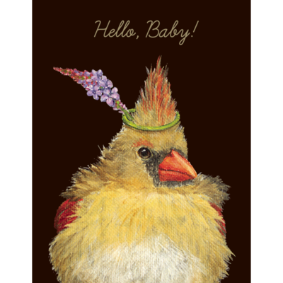 """""""Hello, Baby"""" On The Nest Card"""