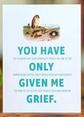 Double-talker Prairie Dog Thank You Card