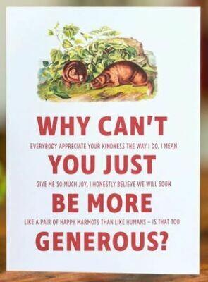 Double-talker Marmot Thank You Card