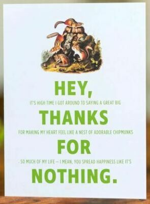 Double-talker Chipmunk Thank You Card