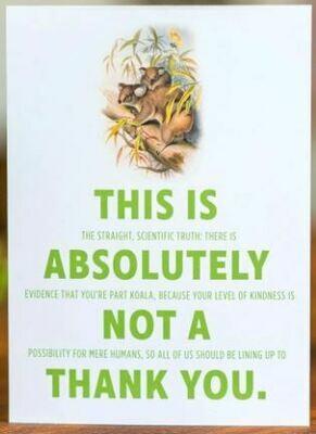 Double-talker Koala Thank You Card