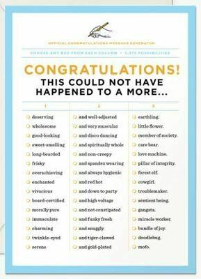Congratulations Message Generator Card