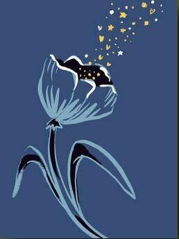 Blue Flower Sympathy Card