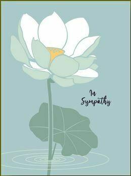 In Sympathy Lily Card