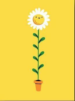 Smiley Flower Card