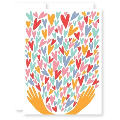 Handing Out Hearts Card