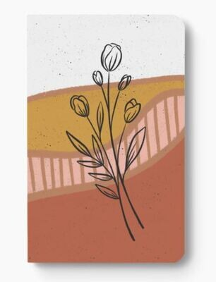 Boho Tulips Dotted Notebook