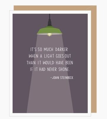 John Steinbeck Quote Sympathy Card