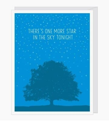 One More Star Sympathy Card
