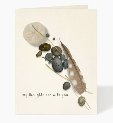 Feather and Stones Sympathy Card