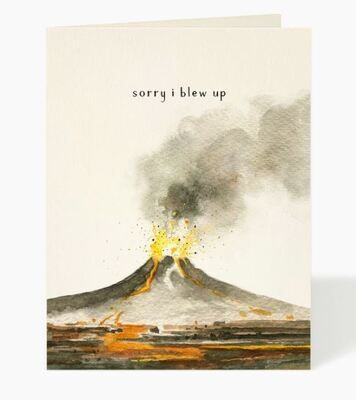 Blow Up Apology Card