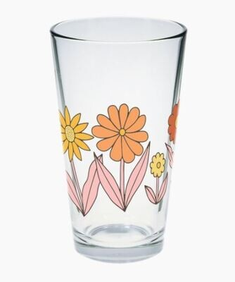 Floral Pint Glass