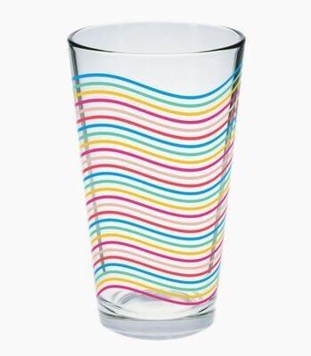 Wavy Lines Pint Glass