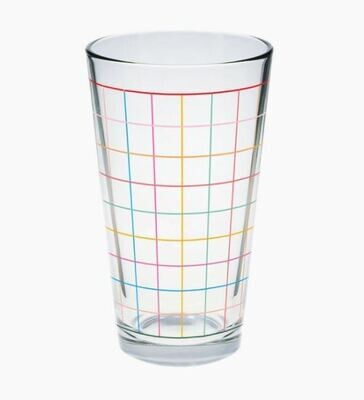 Colorful Grid Pint Glass