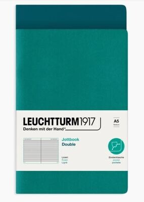 Jottbook Pack of 2 - Emerald & Pacific Green / Ruled