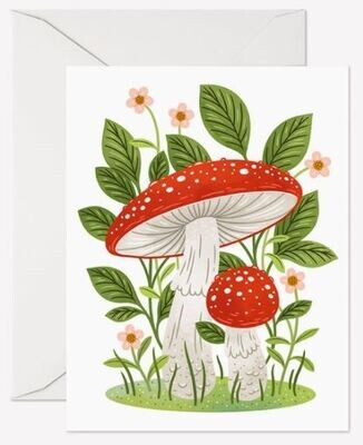 Fly Agaric Mushrooms Card