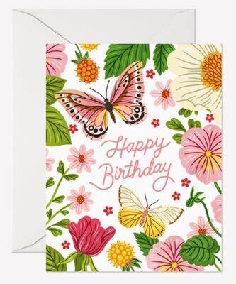 Happy Bday Butterflies Card