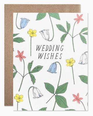 Wedding Wishes Floral Card