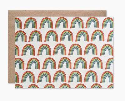 Rainbow Folding Note Set of 8