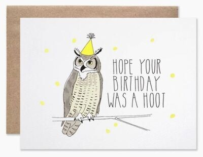 Belated Birthday Owl Card
