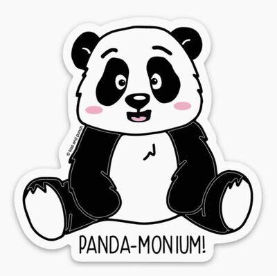 Pandamonium Sticker