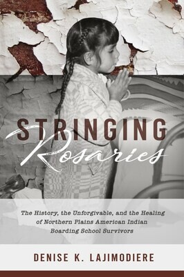 Stringing Rosaries by Denise Lajimodiere