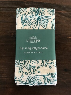 This Is My Father's World Hymn Tea Towel