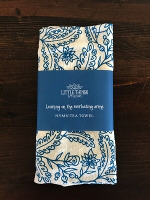 Leaning on the Everlasting Arms Hymn Tea Towels