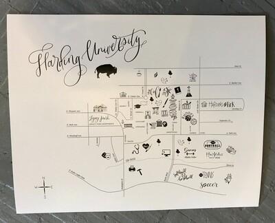 Harding University Map 11x14