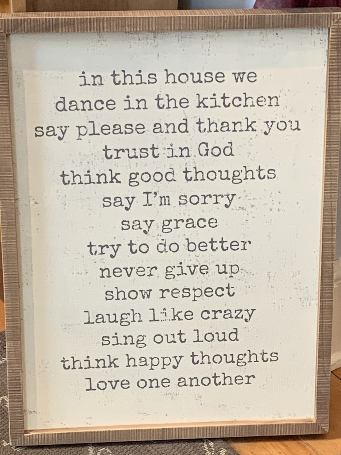 P&L- In This House Inset Box Sign
