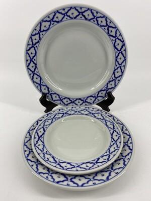 Lg Rnd B/W Plate