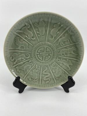 Celadon Zodiac Plate