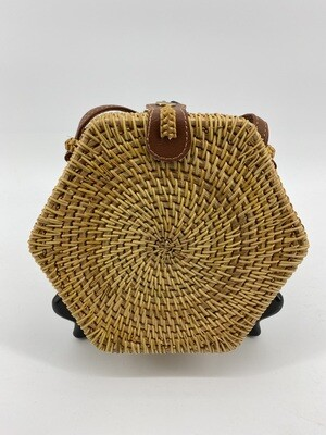 Purse Rattan Hexagon