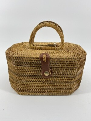 Purse Rattan Train Car