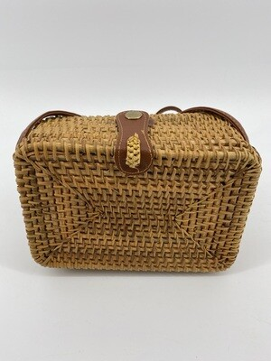 Purse Rattan Rectangle
