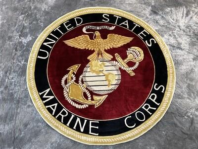 USMC Silk Rug