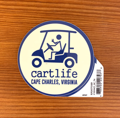 Sticker Cart Life Blue-Tan