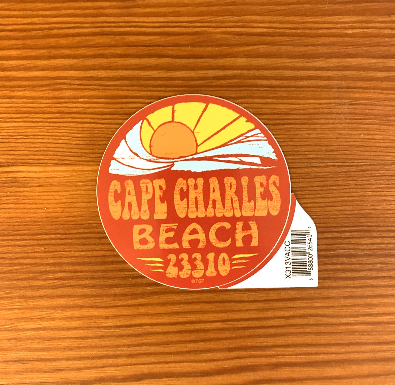 Stickers Flashback Circle Wave Sun