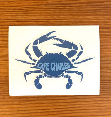 Stickers Logo Crab CC Blue
