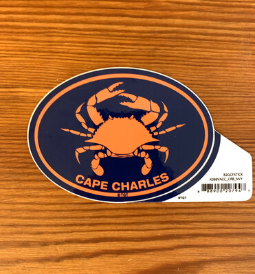 Stickers Mid Color Oval Crab Navy