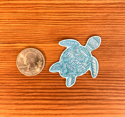 Stickers Mini Tribal Turtle