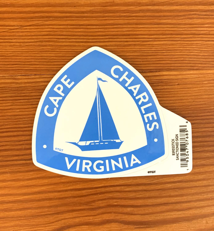 Stickers Sanctioned Sign CC VA