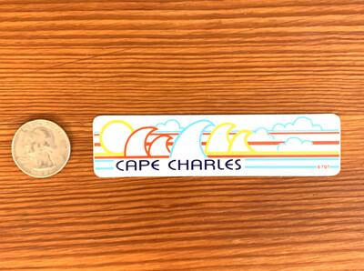 Stickers Mini Bumper Wave Cape Charles