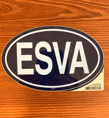 Stickers Oval ESVA Navy