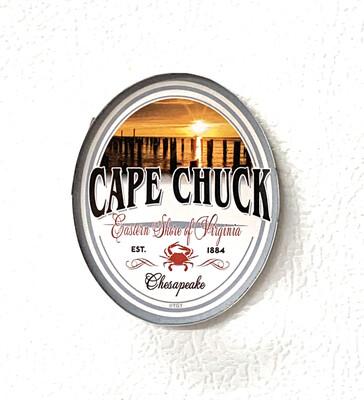 Souvenir Magnet Oval Beach Sunset Crab CC