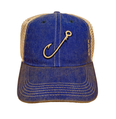 Hat A Seamer Hook Trucker Blue