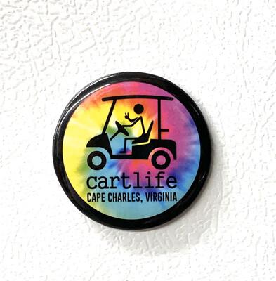Souvenir Magnet Cart Life Tie Dye
