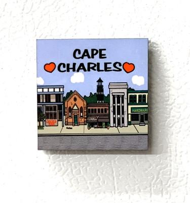 Souvenir Magnet Townscape Square 2