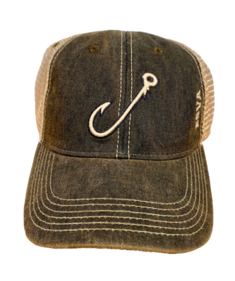 Hat A Seamer Hook Trucker Black