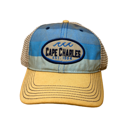 Hat A Blue Stripe Trucker CC OFA